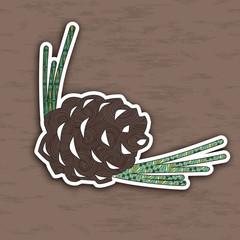 Design element: pinecone. Illustration of concept. Vector