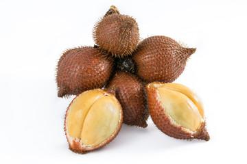 Zalacca tropical fruit isolated on white background