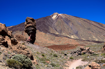 View of the volcano Teide