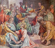 Rome - The fersco of feet washing scene at the Last supper - 81551786