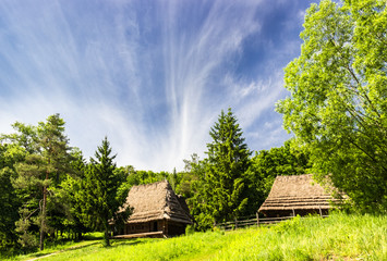 Old farmhouse from Carpathian region.