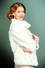 white mink coat