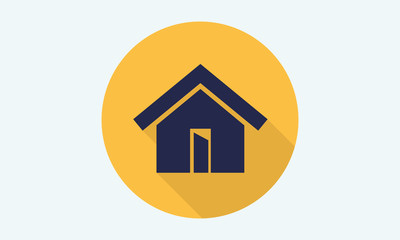 Home flat icon - vector icon 1