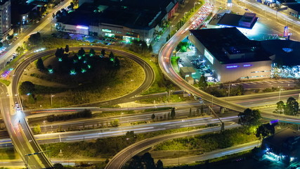 4k timelapse video of traffic on highway at night