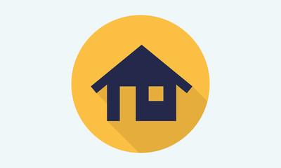 Home flat icon - vector icon 3