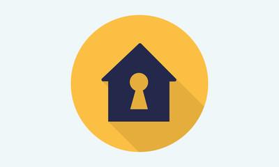 Home flat icon - vector icon 5
