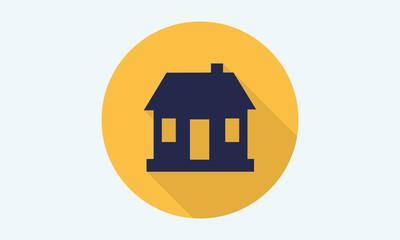 Home flat icon - vector icon 9
