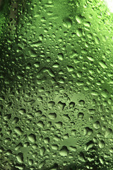drops on green glass