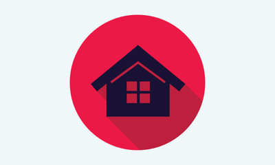 Home, house flat icon - vector icon 9