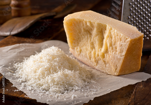 Fotobehang Zuivelproducten Grated Parmesan Cheese