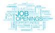 Job openings recruitment positions tag cloud career