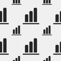 Growth and development concept. graph of Rate icon sign. Seamles