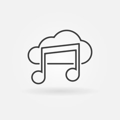 Sound cloud vector icon or logo