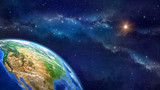 Planet earth in outer space - 81555530
