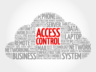 Access control word cloud concept