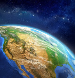 Planet earth in outer space - 81556179