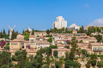 Yemin Moshe neighborhood in Jerusalem.