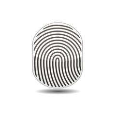 Fingerprints icon. Vector illustration.