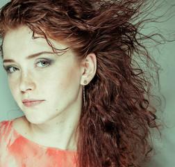 sexy redhead girl portrait