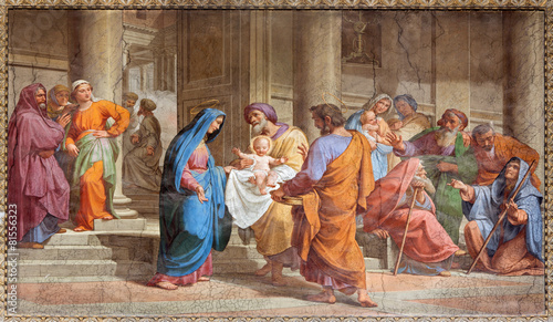 Canvas Rome Rome - Presentation in Temple - in Basilica di Sant Agostino