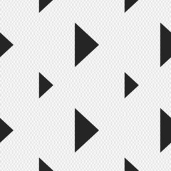 play button icon sign. Seamless pattern with geometric texture.