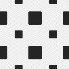 stop button icon sign. Seamless pattern with geometric texture.