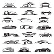 set of twenty-one car icons - 81556716