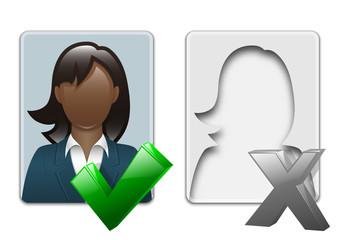 Black woman user icons. Vector illustration