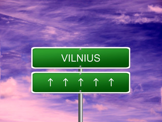 Vilnius City Lithuania Sign