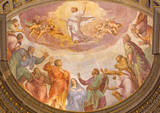 Rome - Ascension of the Lord fresco - Santa Maria dell Anima