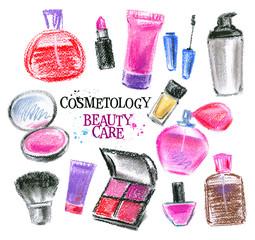 beauty salon vector logo design template. perfume, lipstick or