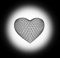 Grid In the form of heart.