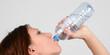 wasser trinken, flasche, junge frau