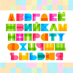 Geometric shapes cyrillic alphabet letters.
