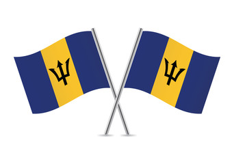 Barbados flags. Vector illustration.