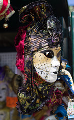 A wonderfully decorated, hand crafted, Venetian mask