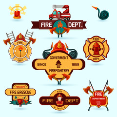 Firefighter Emblems Set