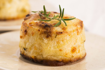 potato gratin with fresh rosemary