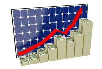 Solar Panel - Bar graphs made from Dollar banknotes