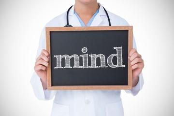 Mind against doctor showing little blackboard