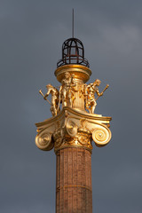 Golden column at sunset, Vienna.