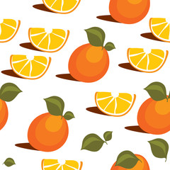 vector seamless pattern citrus slices