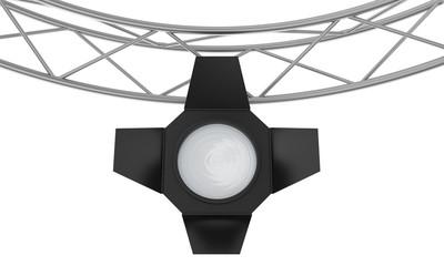light spotlight lamp hanging on a metal frame