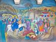 Bethlehem - fresco of Palm Sunday in Syrian orthodox church - 81561714