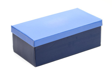 box for shoes on the white background