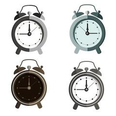 set alarm clocks in different colors
