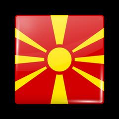 Flag of Macedonia. Glossy Icons