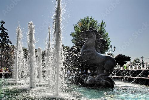 Leinwanddruck Bild Mosca, fontana 2