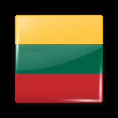 Flag of Lithuania. Glossy Icons