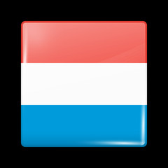 Flag of Luxembourg. Glossy Icons
